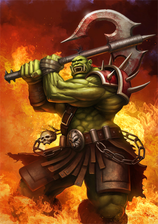 Wow Cover Orc By Prdart On Deviantart