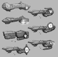 Battleship Concepts by PRDart