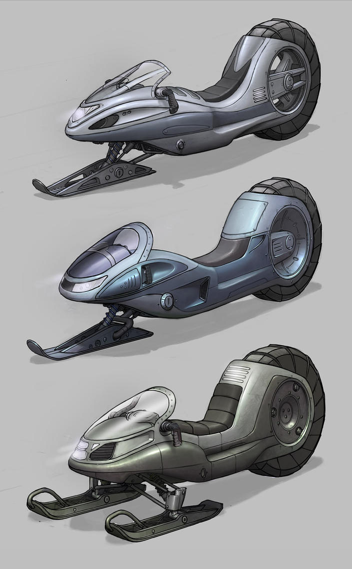 Snow Bike Concepts by PRDart