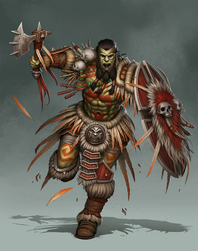 Tribal Orc by PRDart