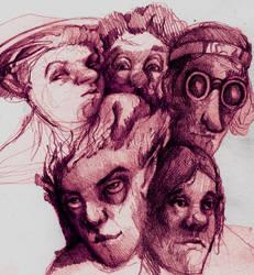 Face doodles by Izelbat