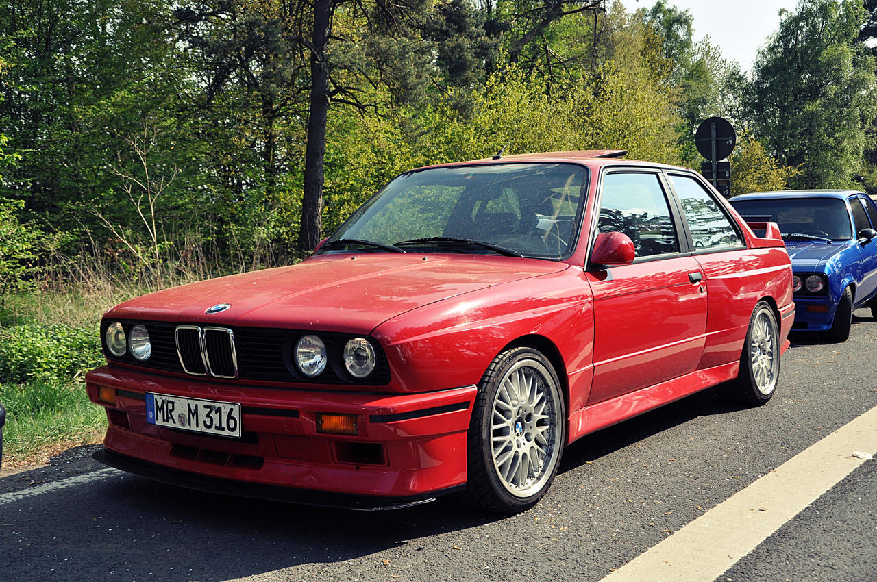 BMW e30 M3 red by Spliddi on DeviantArt