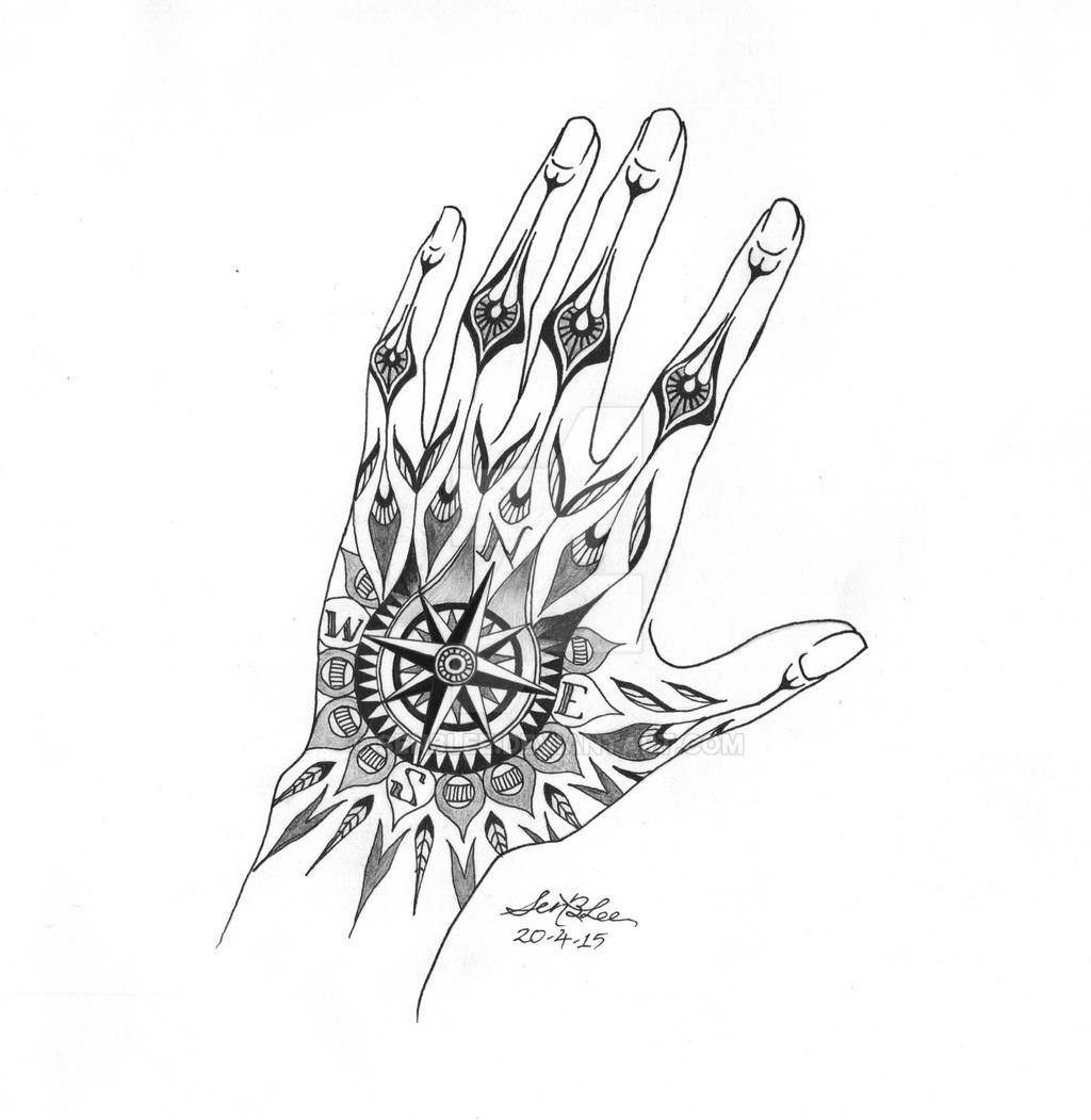 Hand Compass Tattoo Design By Senblee On Deviantart