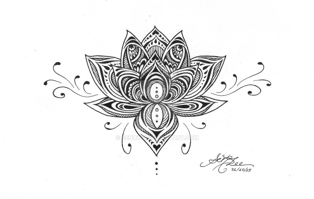 mandala lotus tattoo design by senblee on deviantart. Black Bedroom Furniture Sets. Home Design Ideas