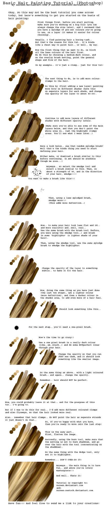 Basic Hair Tut - Photoshop by nureen-REStock
