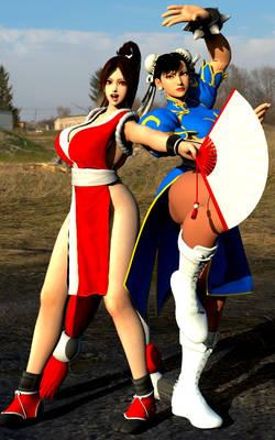 Crossover 9 : Mai and Chun-Li