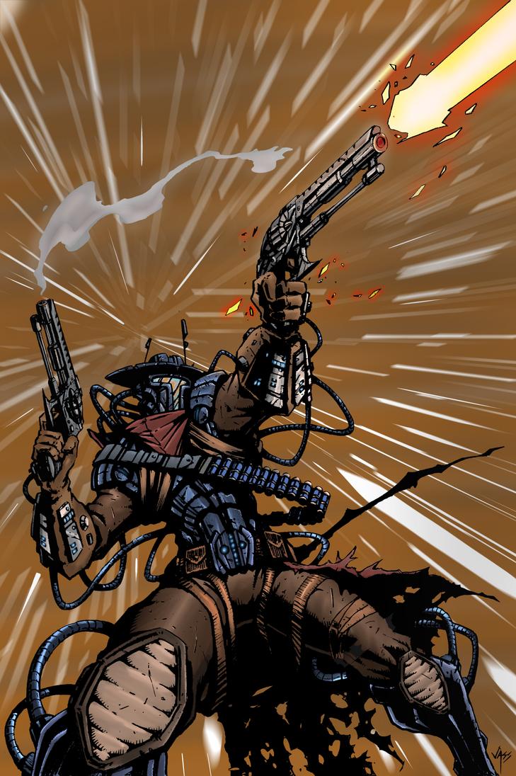 Star Wars Bounty Hunter Cowboy PIstol Dude by mwehner