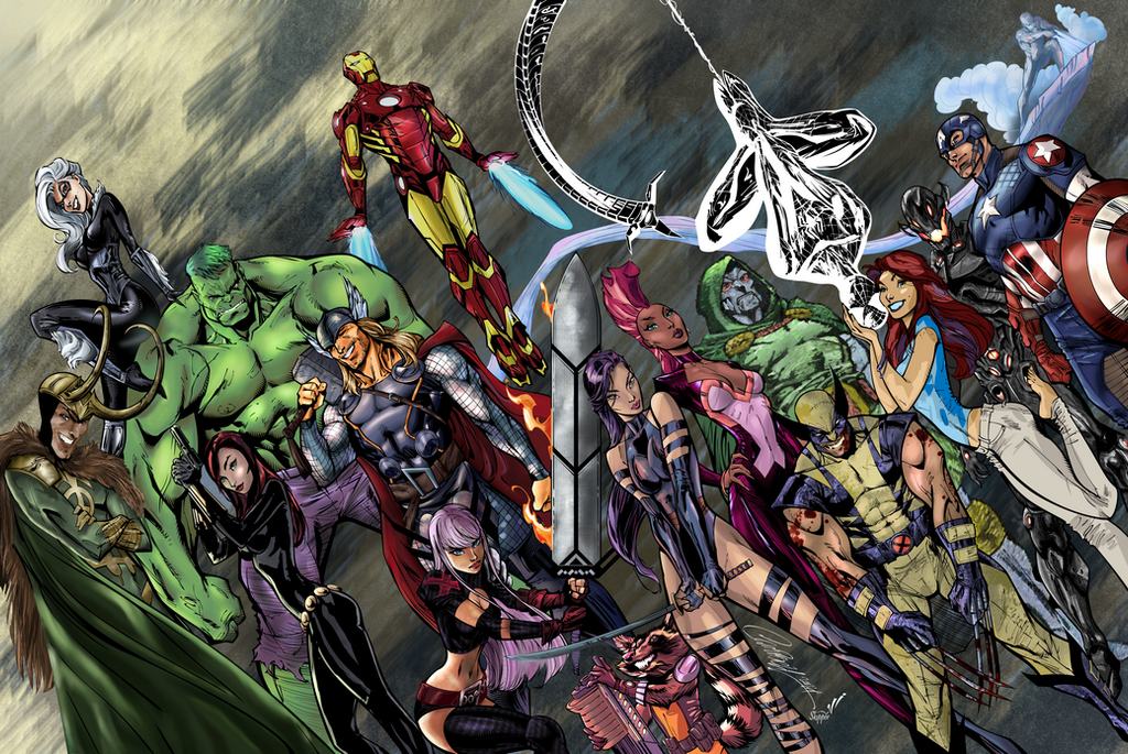 Avengers - Comic Book Coloring Style Challenge by mwehner