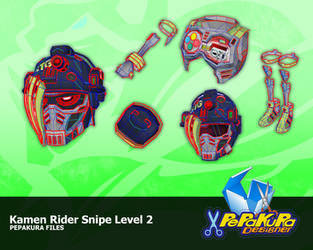 Kamen Rider Snipe Pepakura Foam Template by Constrictorz