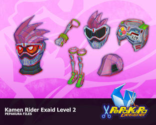 Kamen Rider Exaid Pepakura Foam Template by Constrictorz