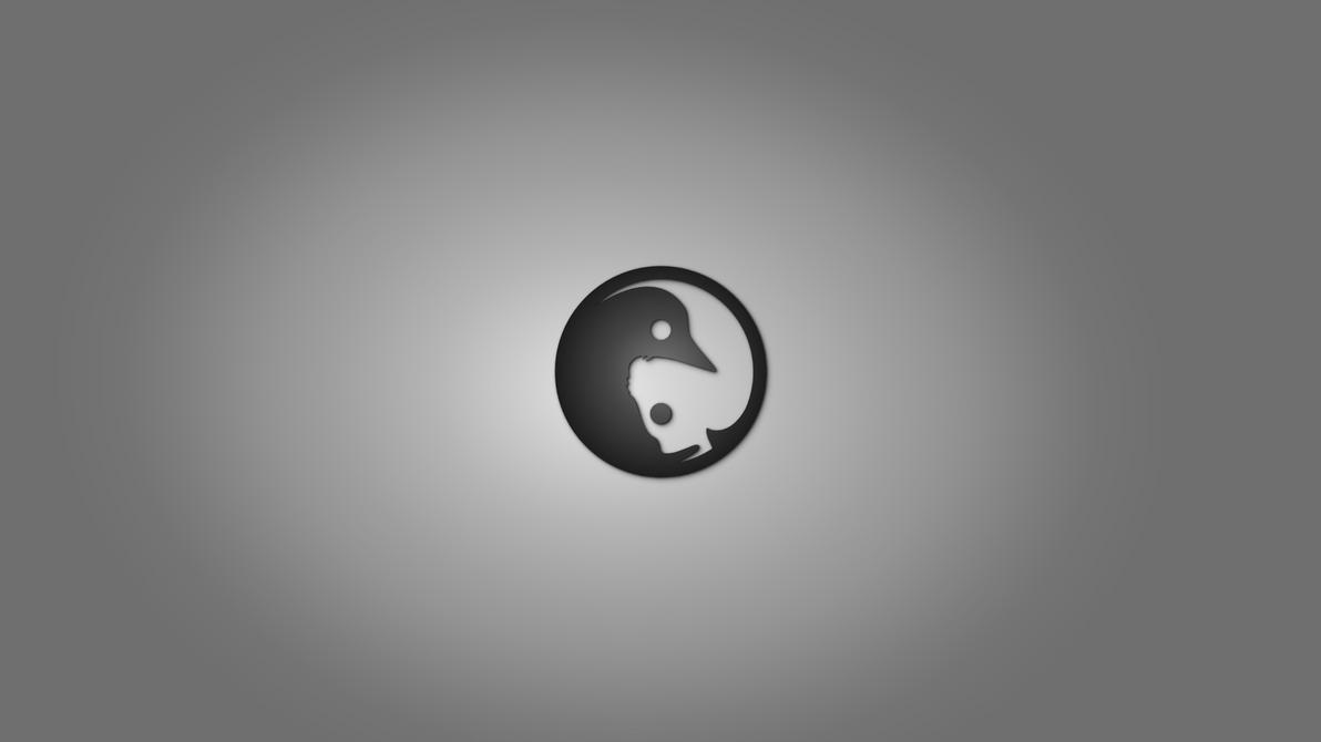 GNULinux YinYang Wallpaper by Dablim