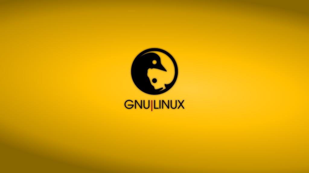 GNULinux YinYang Wallpaper | Amber by Dablim