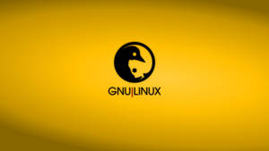 GNULinux YinYang Wallpaper | Amber by Dablim