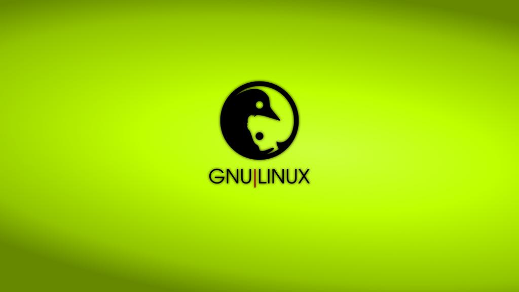 GNULinux YinYang Wallpaper | Lime by Dablim