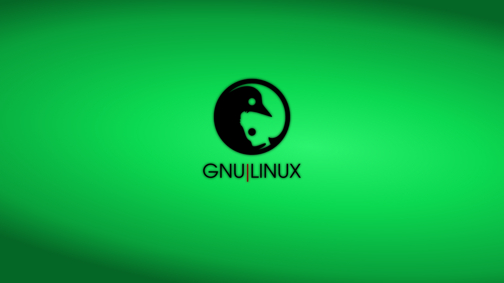 GNULinux YinYang Wallpaper | Malachite by Dablim