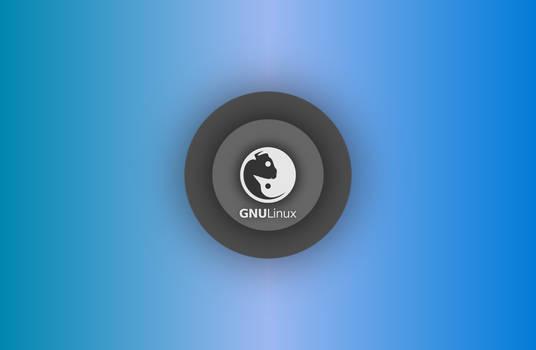 GNULinux YinYang Wallpaper 2015