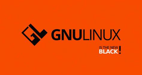 GNULinux is the New Black   Free 4K Wallpaper