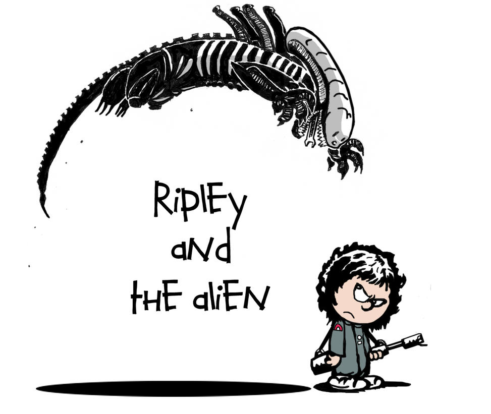 ripley and the alien by skonenblades on deviantart