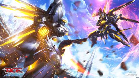 ACE Academy CG: Eagle vs Phoenix battle scene