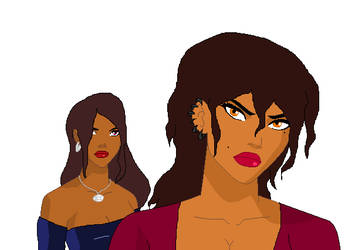 Duesquene sisters by NhadalaShuupin