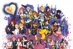 Kingdom Hearts - Bonds by crimson-firelight