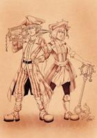 Sora and Kairi: Pirates of the Caribbean by crimson-firelight