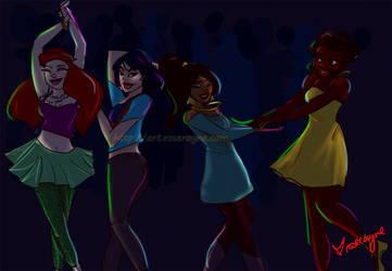 Disney Princess Dancing! :)