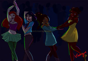 Disney Princess Dancing! :)