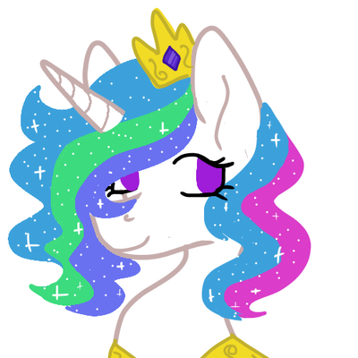 consider: short sparkly hair  by Enzywyn