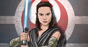 Rey Last Jedi (Star Wars Digital Art)