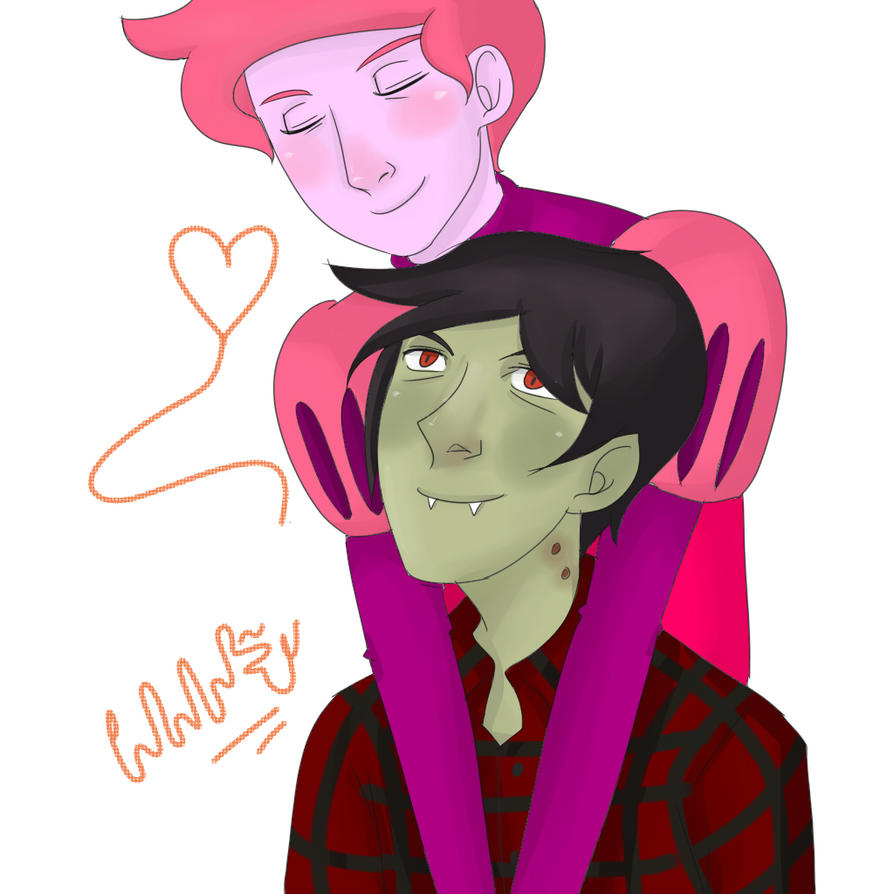 Prince gumball and marshall lee by mellamelfran