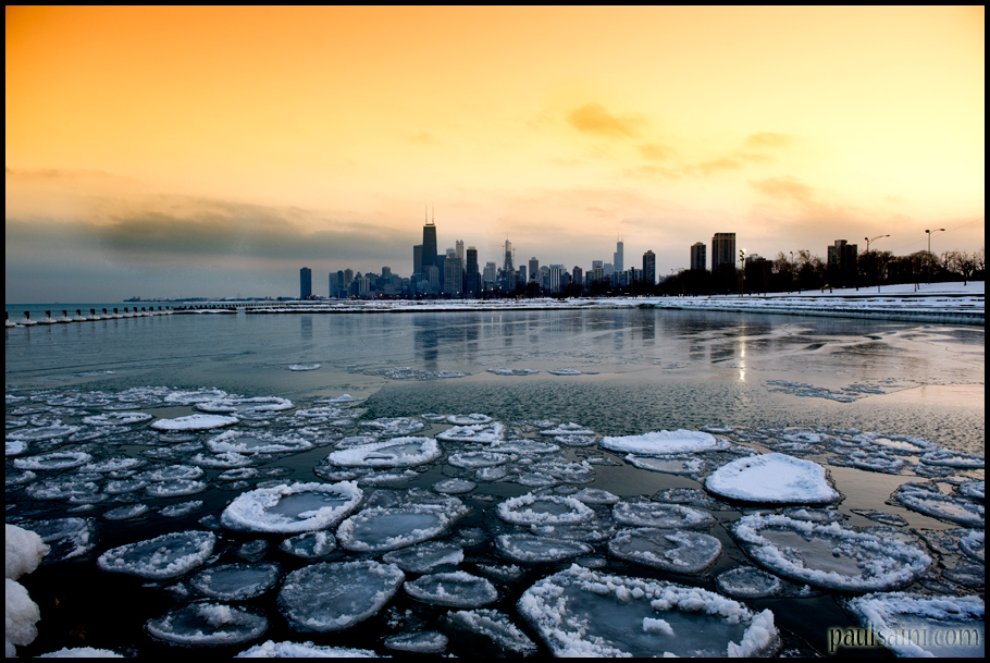Chicago Ice Circles by paulsaini