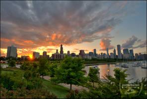 Chicago Dusk IV