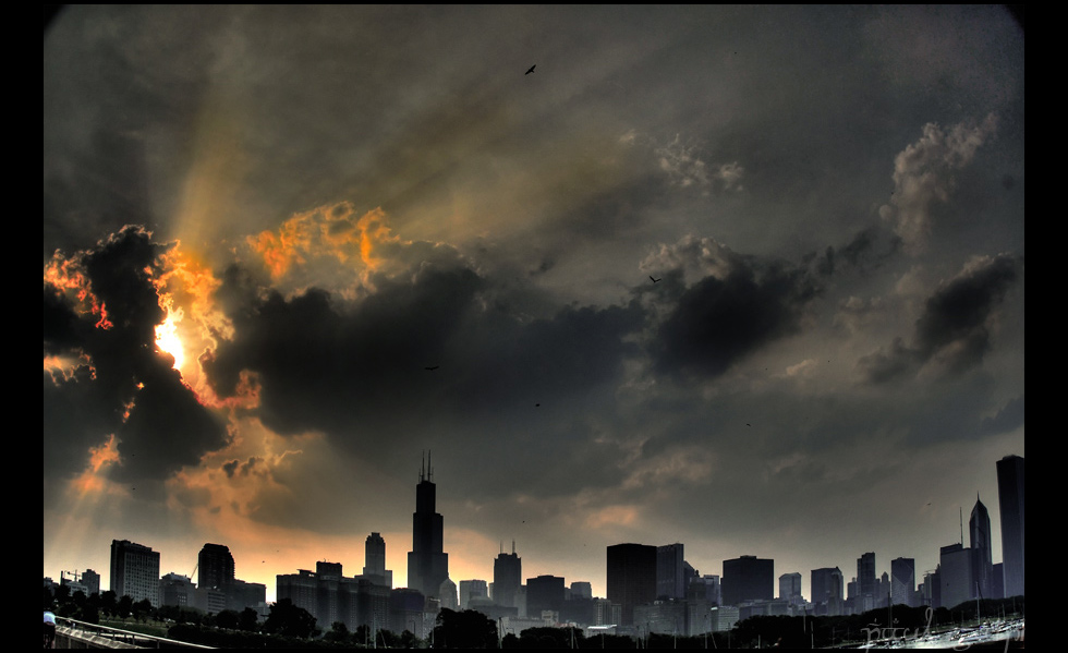 Chicago Dusk by paulsaini