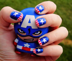 Captain America Nails by FireStump