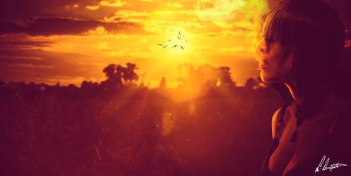 Sunset smoke by zLKida