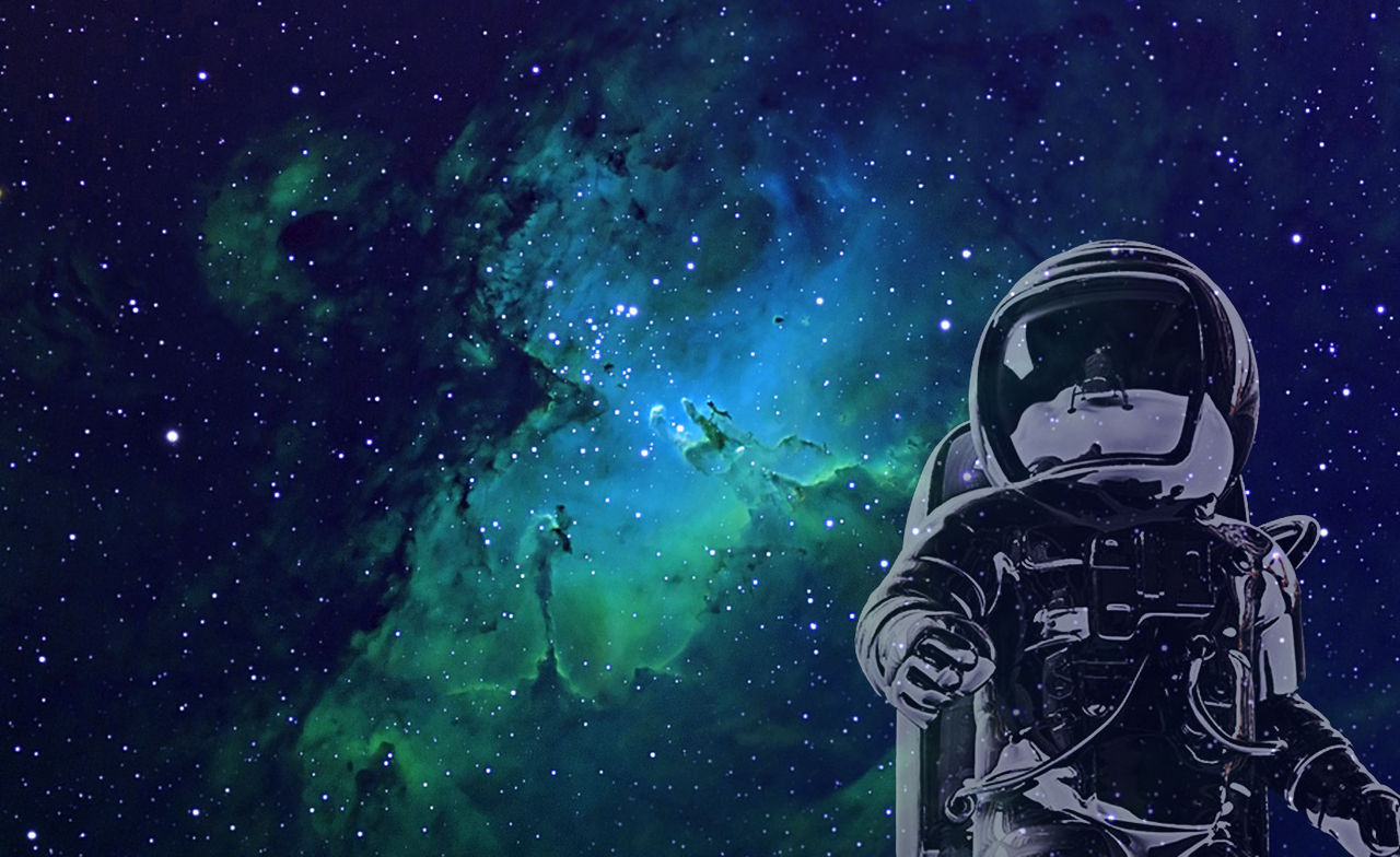 Astronaut In Space Wallpaper Wall Giftwatches Co