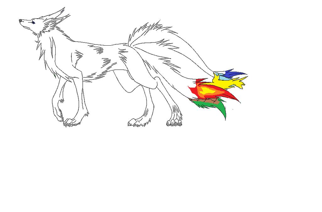 Nobi The Five Taild Wolf by zansuro