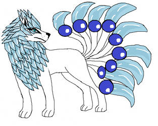 Ice Lion fox by zansuro