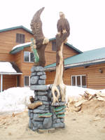 finished eagles and otters by jackaburl
