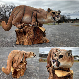 mountain lion sculpt by jackaburl