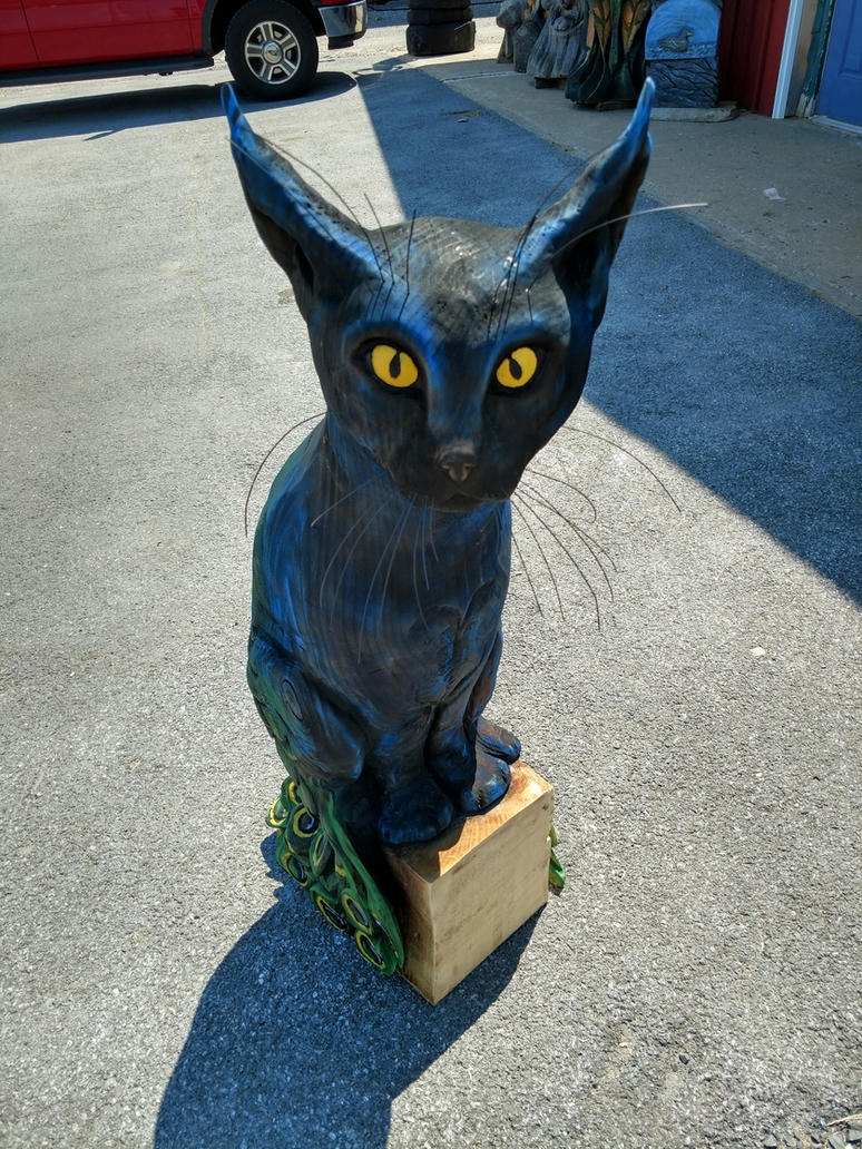 Feathered feline by jackaburl