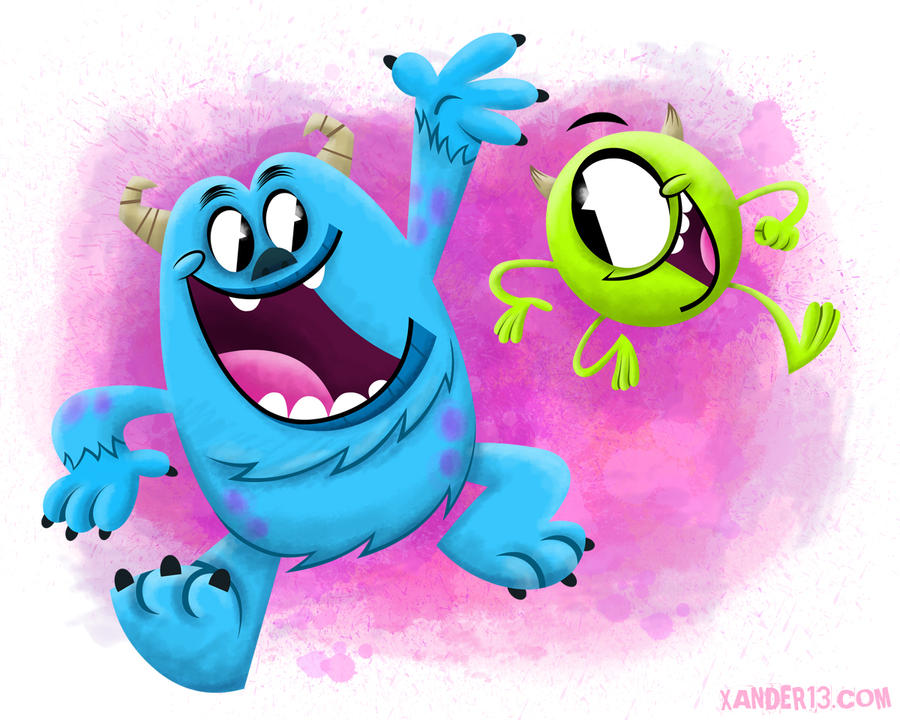 how to draw baby sulley and mike