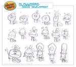 Glow Worms Character Design