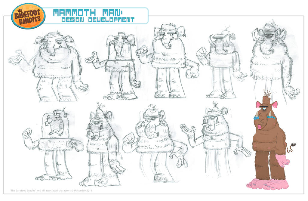 Mammoth Man Character Design by xanderthurteen