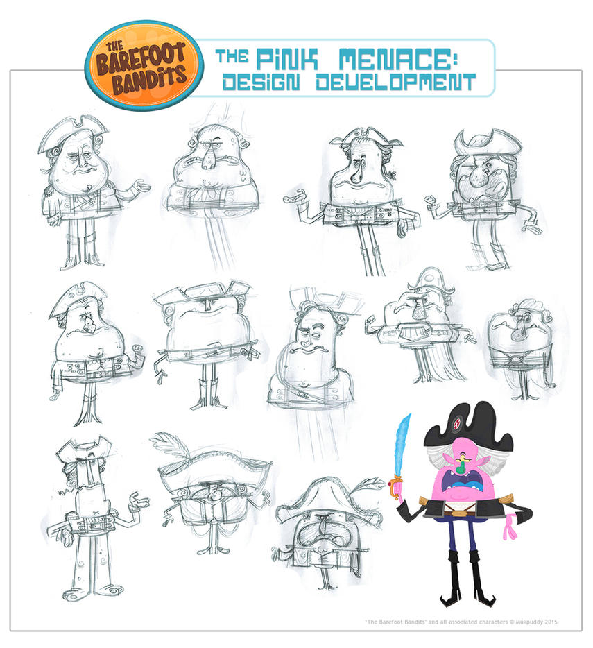 The Pink Menace Character Design by xanderthurteen