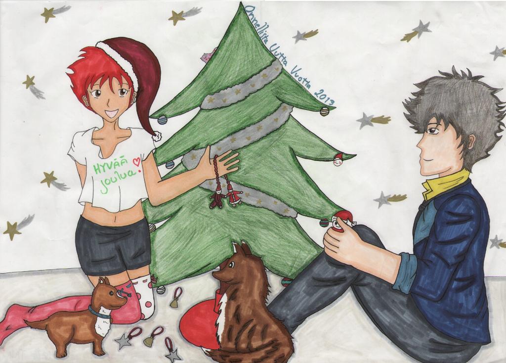 Cowboy bebop Christmas by Feenuska on DeviantArt