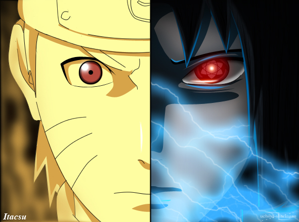 Naruto vs Sasuke by ItacsuM