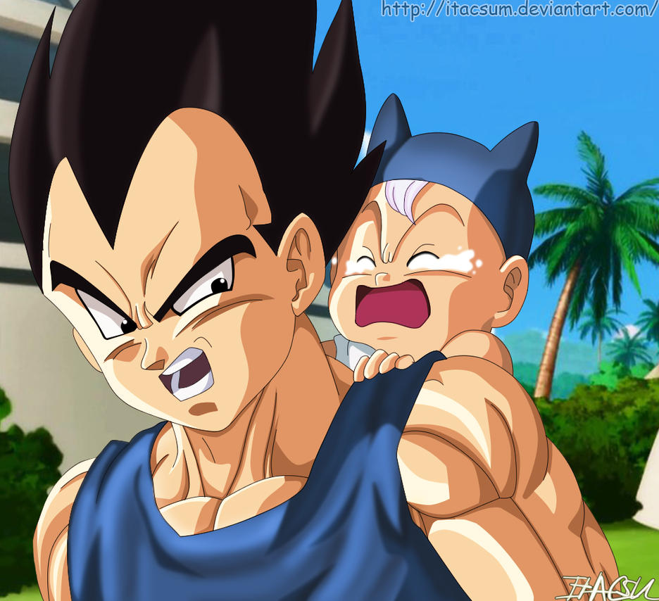 The Best Dad In The World [Vegeta And Trunk] By ItacsuM On