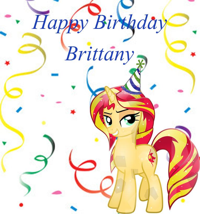 Happy Birthday Brittany By Blazer10000 On Deviantart